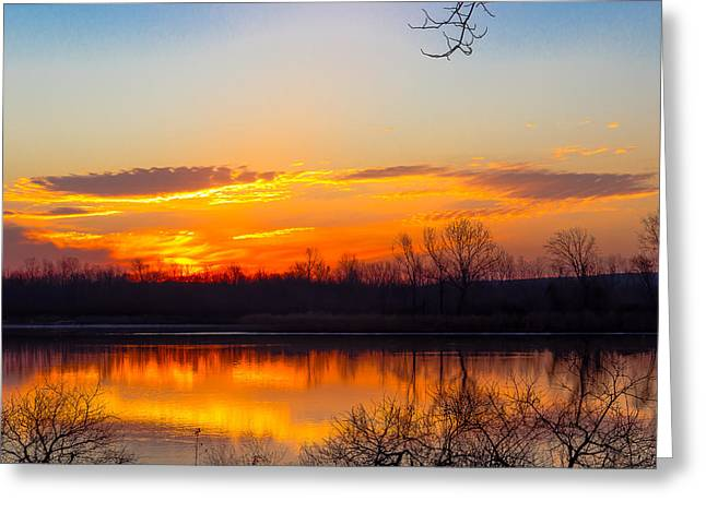 Sunrise At Clear Creek Greeting Card