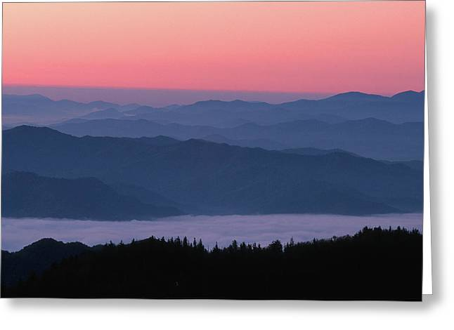 Sunrise At Clingmans Dome, Great Smoky Greeting Card by Richard and Susan Day