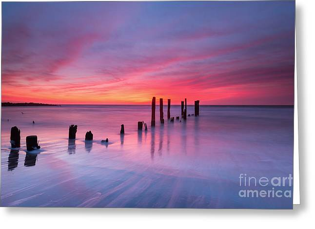 Sunrise At Deal Nj Greeting Card