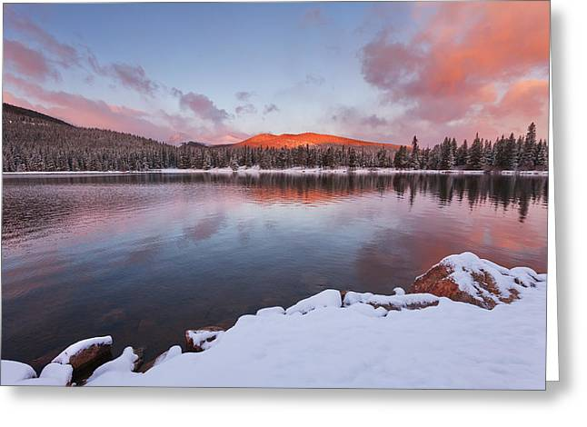 Sunrise At Echo Lake Greeting Card by Darren  White