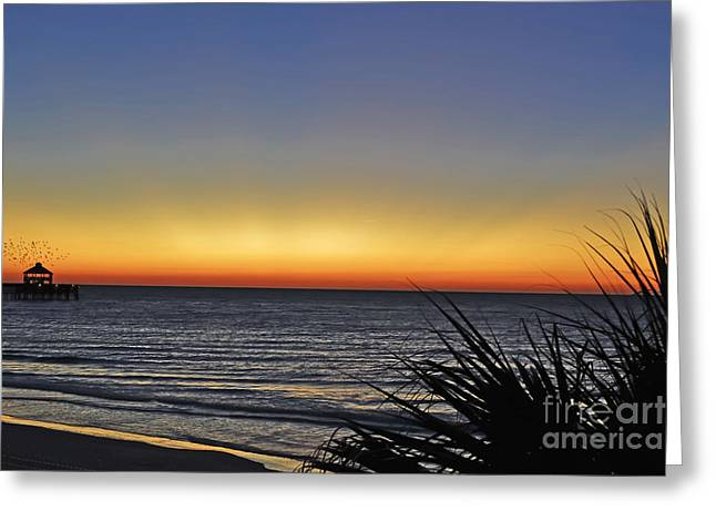 Sunrise At Folly Greeting Card