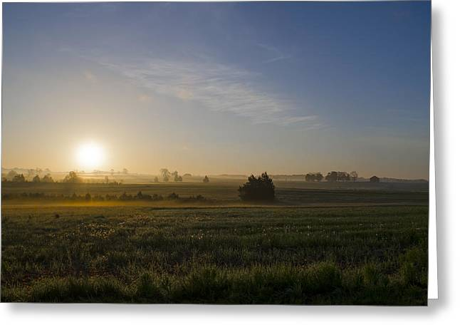 Sunrise At Gettysburg National Park Greeting Card by Bill Cannon