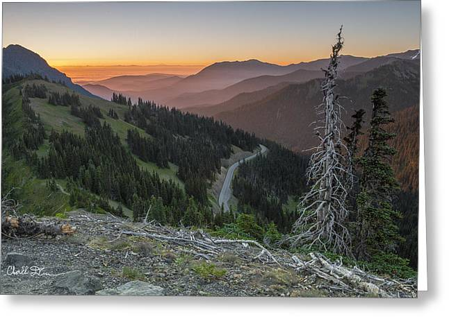 Sunrise At Hurricane Ridge - Sunrise Peak Greeting Card