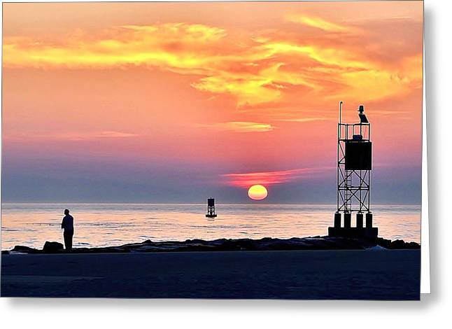 Sunrise At Indian River Inlet Greeting Card