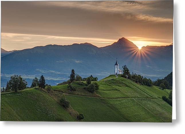 Sunrise At Jamnik Greeting Card