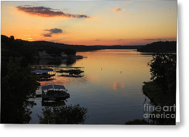 Sunrise At Lake Of The Ozarks Greeting Card