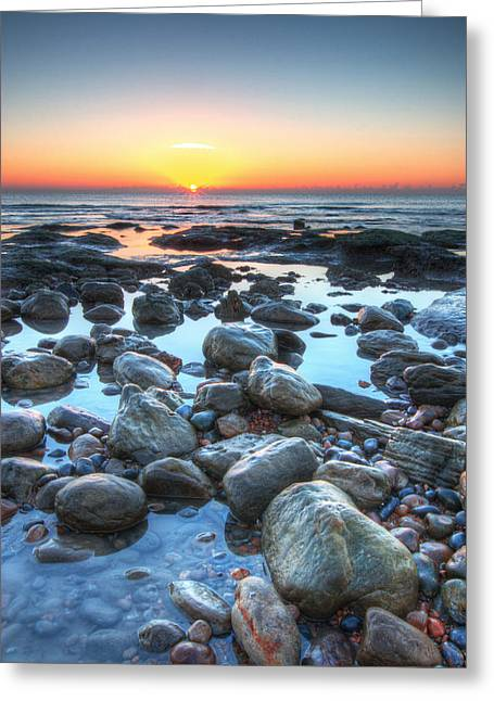 Sunrise At Low Tide Greeting Card