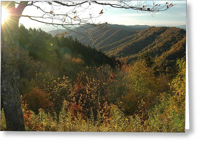 Sunrise At New Found Gap Greeting Card by John Saunders