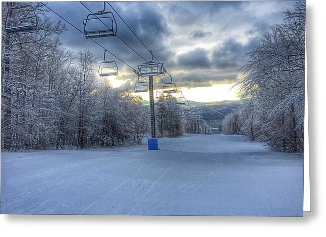 Sunrise At Okemo Mountain Greeting Card
