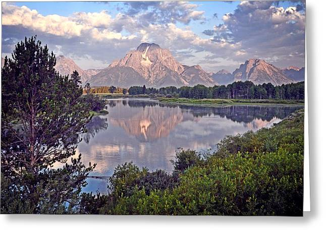 Sunrise At Oxbow Bend 4 Greeting Card by Marty Koch