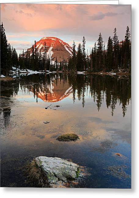 Sunrise At Picturesque Lake. Greeting Card