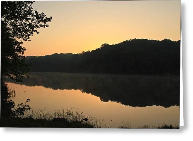 Sunrise At Rose Lake Greeting Card