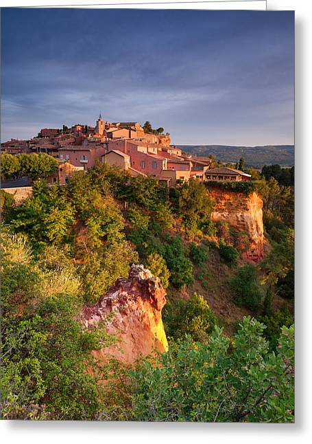 Sunrise At Roussillon Greeting Card by Michael Blanchette