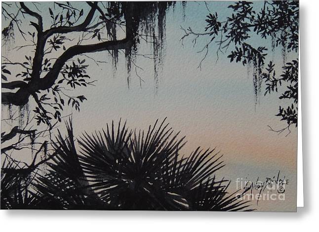 Sunrise At Shellmans Bluff Greeting Card