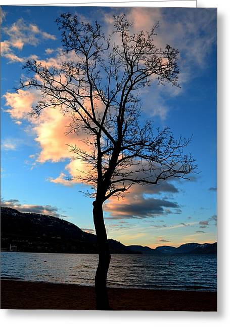 Sunrise At Skaha Lake 03-07-2014 Greeting Card