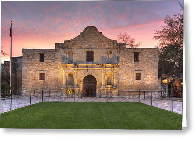 Sunrise At The Alamo San Antonio Texas 1 Greeting Card