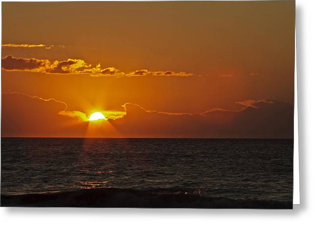 Sunrise At The Beach Greeting Card