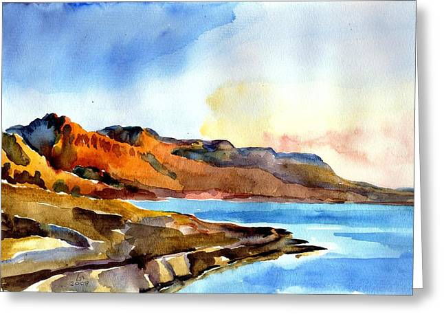 Sunrise At The Dead Sea  Greeting Card