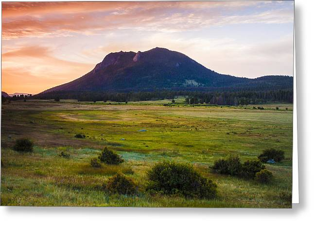 Sunrise At The Horseshoe Park Of The Colorado Rockies Greeting Card by Ellie Teramoto