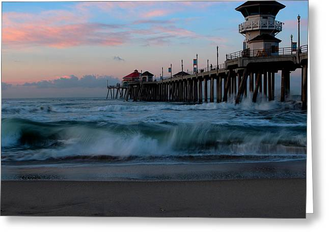 Sunrise At The Pier Greeting Card by Duncan Selby