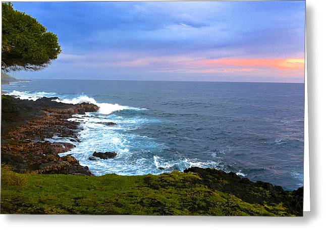 Sunrise At The Point Hawaii Greeting Card by Venetia Featherstone-Witty