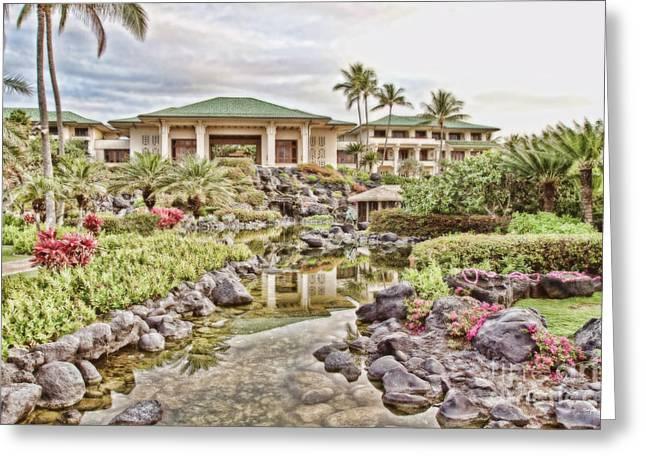 Sunrise At The Resort Greeting Card by Scott Pellegrin