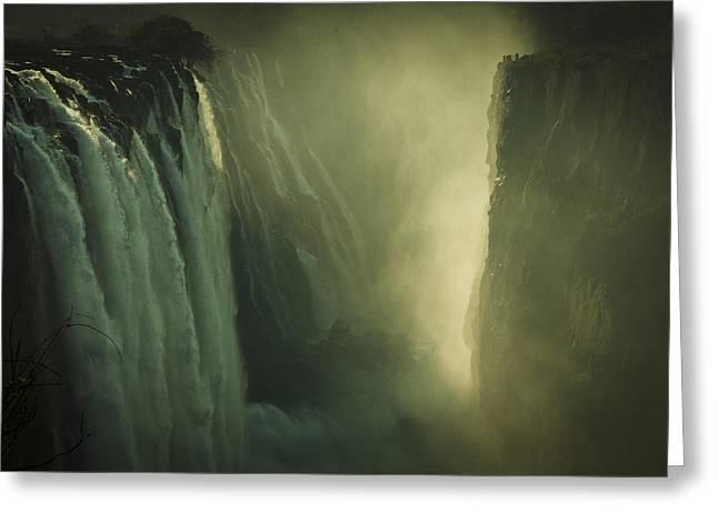 Sunrise At Victoria Falls Greeting Card by Alison Buttigieg