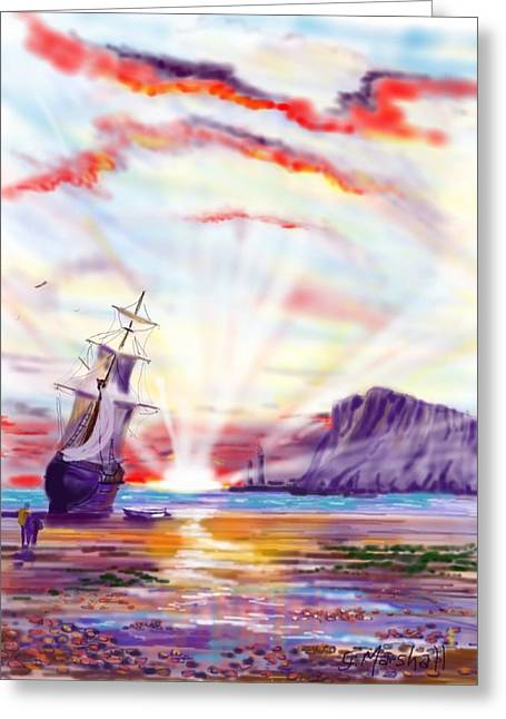 Sunrise At Whitby Greeting Card