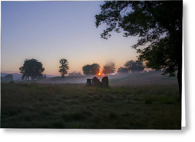 Sunrise At Whitemarsh Greeting Card by Bill Cannon