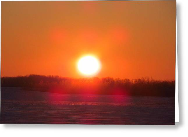 Sunrise At Wroxton Greeting Card