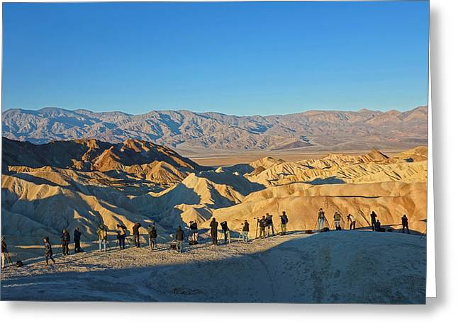 Greeting Card featuring the photograph Sunrise At Zabriskie Point - Death Valley by Dana Sohr
