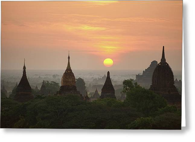Sunrise Bagan II Greeting Card