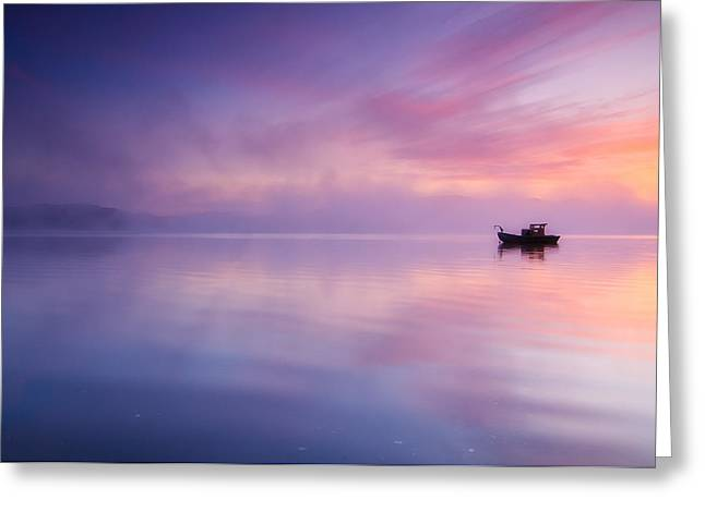 Sunrise Bay Greeting Card by Darren  White