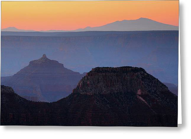 Sunrise, Bright Angel Point, North Rim Greeting Card by Michel Hersen