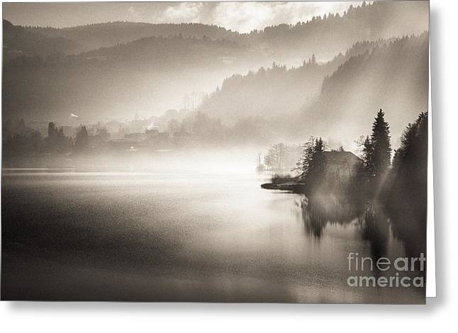 Sunrise By The Lake Greeting Card