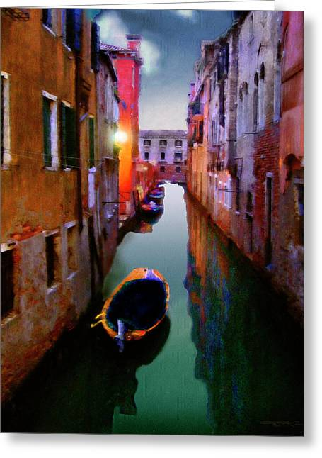 Sunrise Canal Greeting Card
