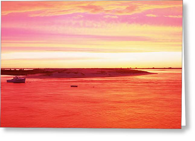 Sunrise Chatham Harbor Cape Cod Ma Usa Greeting Card