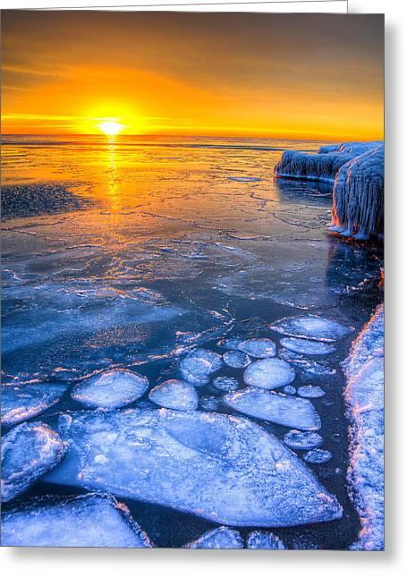 Sunrise Chicago Lake Michigan 1-30-14 02 Greeting Card by Michael  Bennett