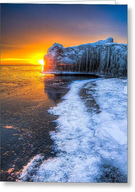 Sunrise Chicago Lake Michigan 1-30-14 03 Greeting Card by Michael  Bennett