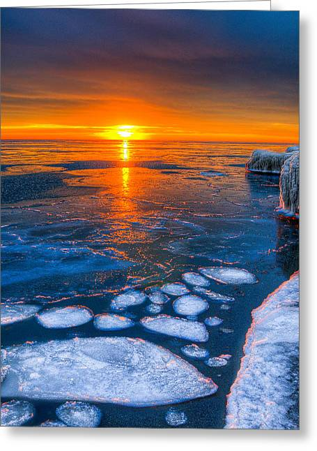 Sunrise Chicago Lake Michigan 1-30-14 04 Greeting Card by Michael  Bennett