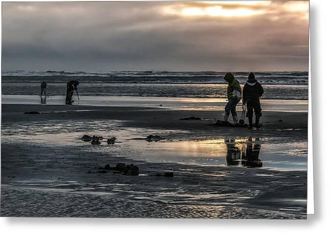 Sunrise Clam Tide Greeting Card by Nichon Thorstrom