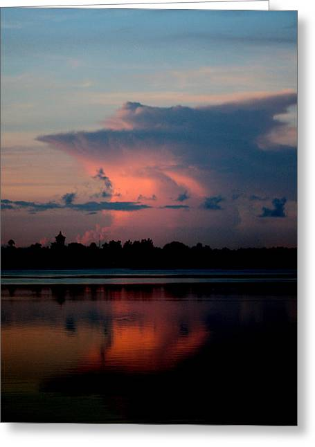 Sunrise Cloud Reflection Greeting Card