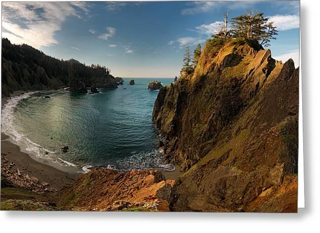 Sunrise Cove Greeting Card by Leland D Howard