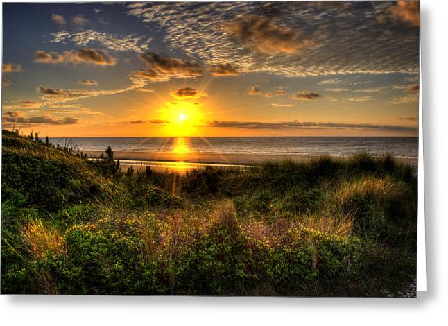 Sunrise Dune Greeting Card by Greg and Chrystal Mimbs