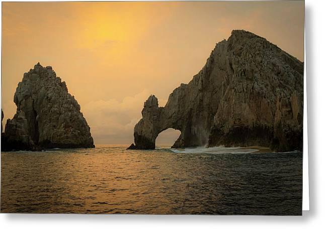 Sunrise, El Arco, The Arch, Cabo San Greeting Card by Douglas Peebles