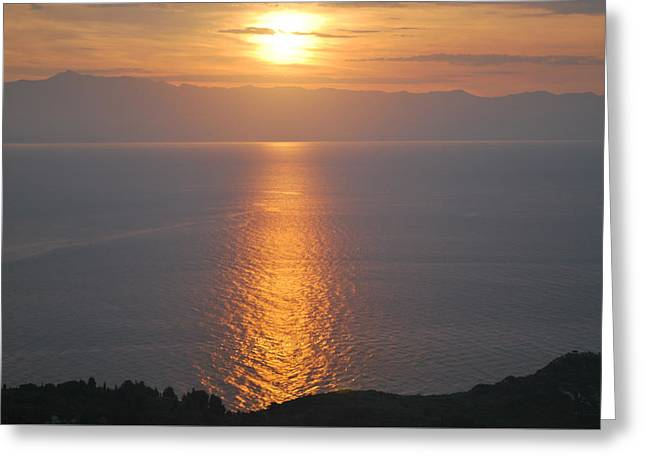 Sunrise Erikousa 1 Greeting Card by George Katechis