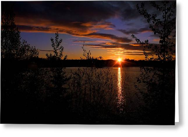 Greeting Card featuring the photograph Sunrise Fairbanks Alaska by Michael Rogers