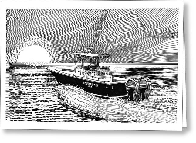 Sunrise Fishing Greeting Card by Jack Pumphrey
