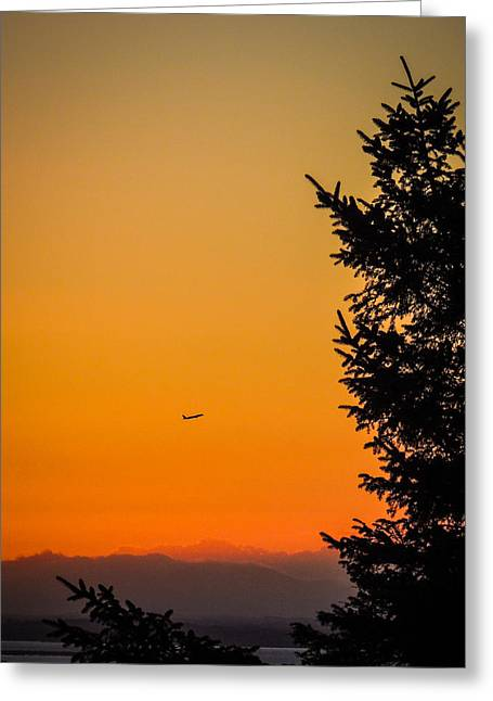 Sunrise Flight Departing Shannon Airport Greeting Card