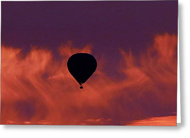 Greeting Card featuring the photograph Sunrise Flight by Mistys DesertSerenity